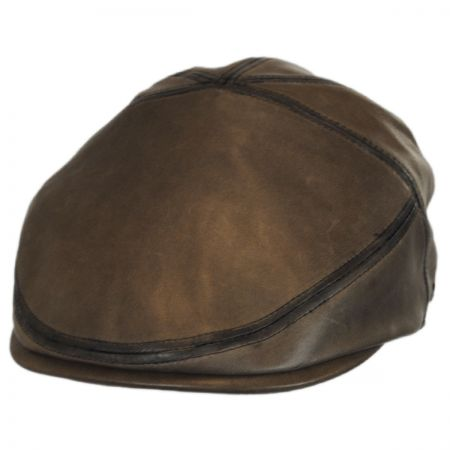 Glasby Lambskin Leather Ivy Cap