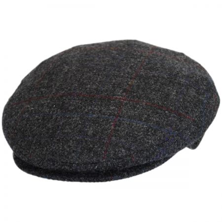 Bailey Lord Windowpane Plaid Wool Ivy Cap