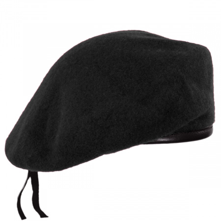Wool Military Beret with Lambskin Band alternate view 295