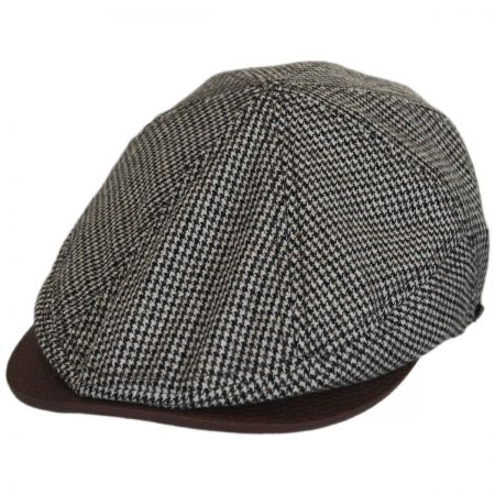 EK Collection by New Era Houndstooth Leather Bill Driver Cap