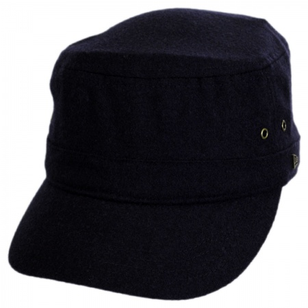 EK Collection by New Era Essential Wool Blend Military Cadet Cap