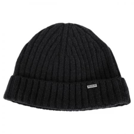 Cashmere Rib Knit Beanie Hat alternate view 1