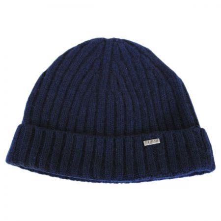Cashmere Rib Knit Beanie Hat alternate view 5