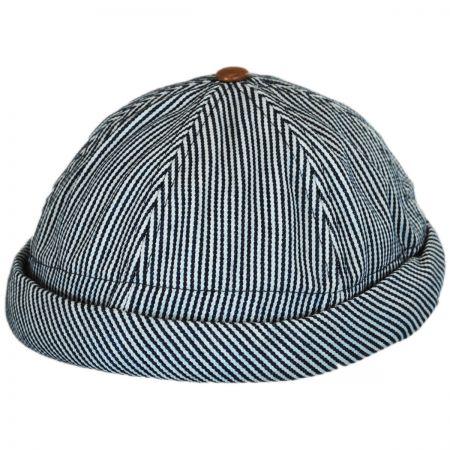 Pinstripe Cotton Skully Beanie Hat alternate view 1