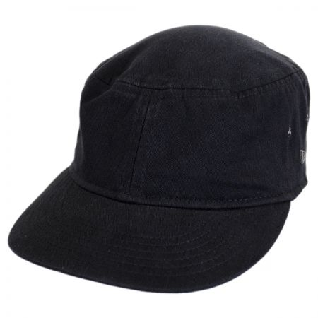 Packable Cotton Military Cadet Strapback Cap