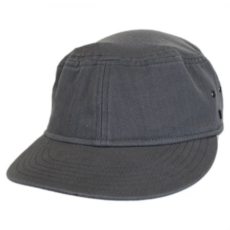 Packable Cotton Military Cadet Strapback Cap alternate view 4