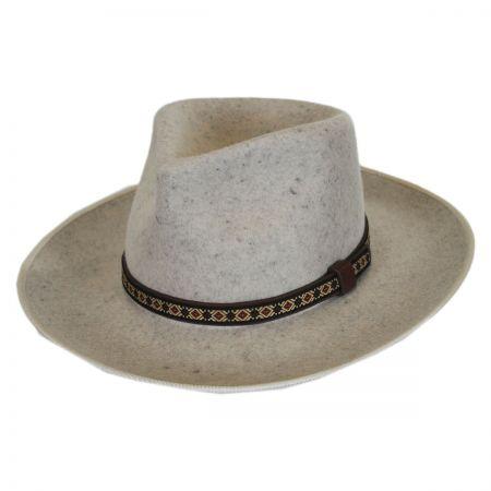 Alpes Wool Felt Wide Brim Fedora Hat alternate view 4