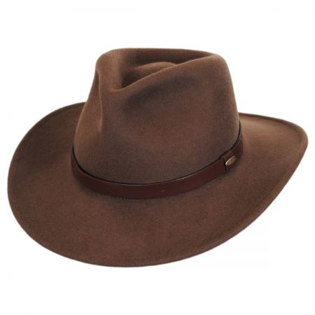Scala Distressed Wool Felt Outback Hat