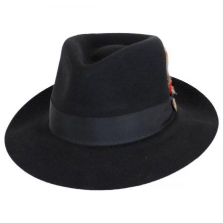 Prescott Fur and Wool Felt Fedora Hat