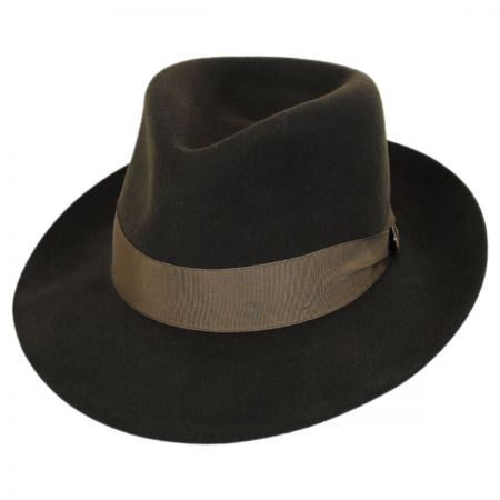 Dobbs Prescott Fur and Wool Felt Fedora Hat