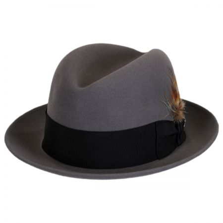 Grey Fur Felt Fedora at Village Hat Shop 9549d42e208