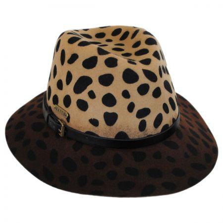 Hatch Hats Leopard Wool Felt Safari Fedora Hat