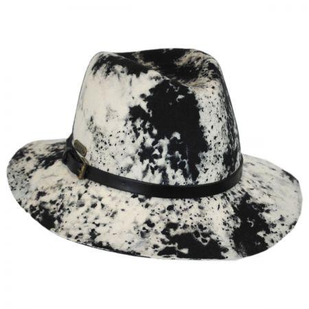 Black and White Wool Felt Safari Fedora Hat alternate view 1