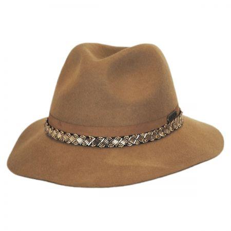Hatch Hats Sophisticate Beaded Band Floppy Fedora Hat - Camel