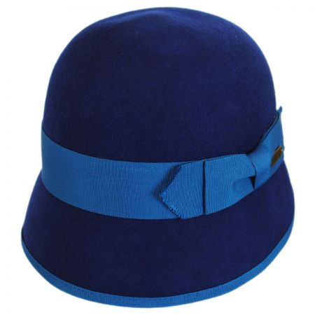 Hatch Hats Ribbon Trim Wool Felt Cloche Hat