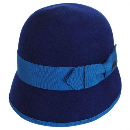 Hatch Hats Ribbon Trim Wool Felt Cloche Hat