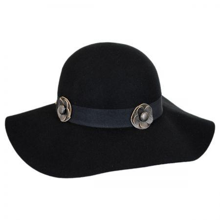 Hatch Hats Rosette Wool Felt Floppy Hat