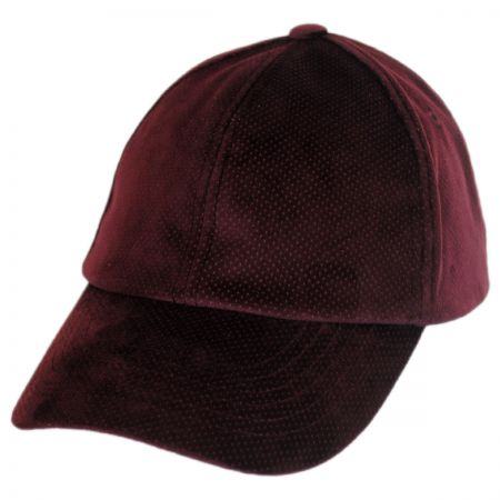 Bailey Leff Velvet Micro-Dot Strapback Baseball Cap Dad Hat