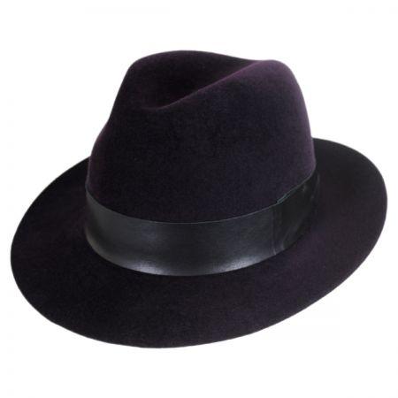 Flume Velour Fur Felt Fedora Hat