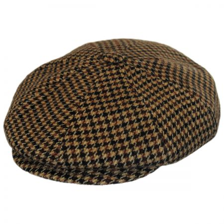 Bailey Galvin Houndstooth Wool Blend Newsboy Cap