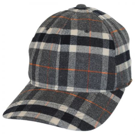 woolrich fleece lined baseball cap plaid mens