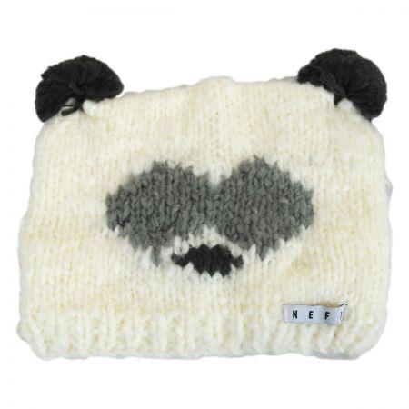 Panda Knit Beanie Hat alternate view 1