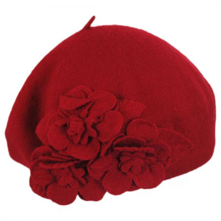 Flower Wool Beret alternate view 4