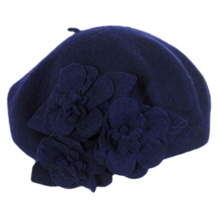 Flower Wool Beret alternate view 3