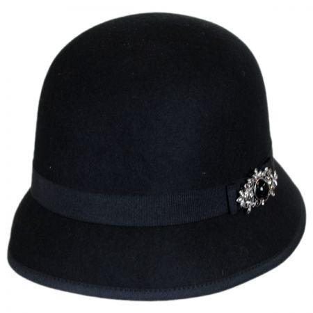 Brooch Wool Felt Cloche Hat alternate view 1