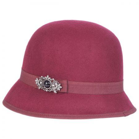 Brooch Wool Felt Cloche Hat alternate view 5