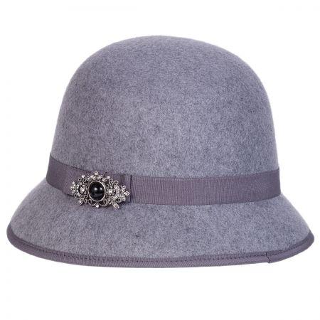 Brooch Wool Felt Cloche Hat alternate view 2