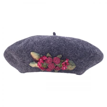 Toucan Collection Dried Rosette Tam Wool Beret