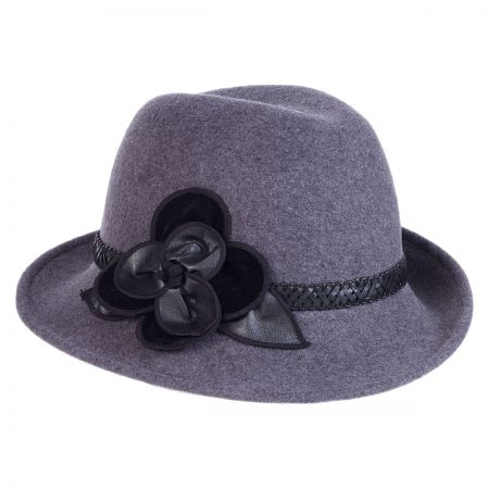 Rose Profile Wool Felt Fedora Hat alternate view 6
