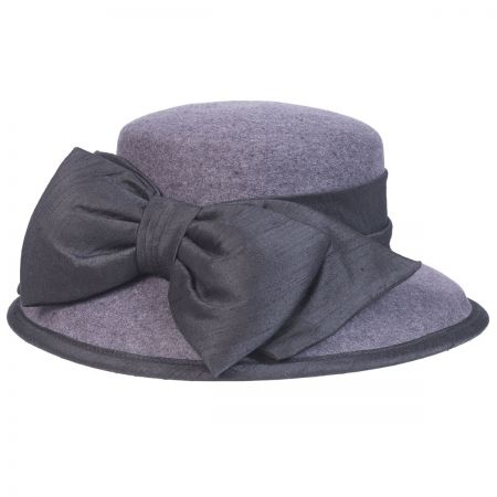 Silk Bow Wool Felt Lampshade Hat alternate view 6