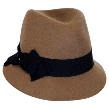 Betmar Walden Wool Felt Fedora Cloche Hat