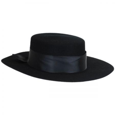 Aldridge Wool Felt Boater Hat alternate view 1