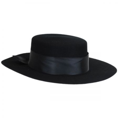 Betmar Aldridge Wool Felt Boater Hat