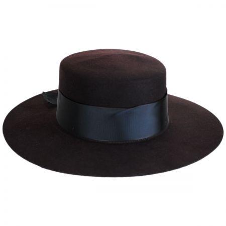 Aldridge Wool Felt Boater Hat alternate view 9