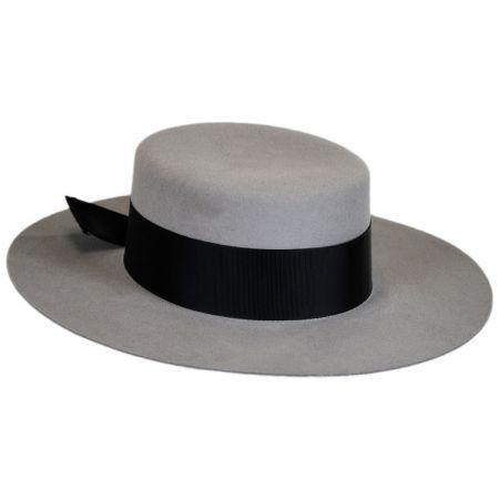 Aldridge Wool Felt Boater Hat alternate view 5