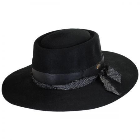 Bailey Brunner Wool Felt Wide Brim Pork Pie Hat