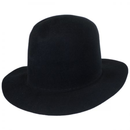 Briles Wool Felt Moldable Open Crown Fedora Hat