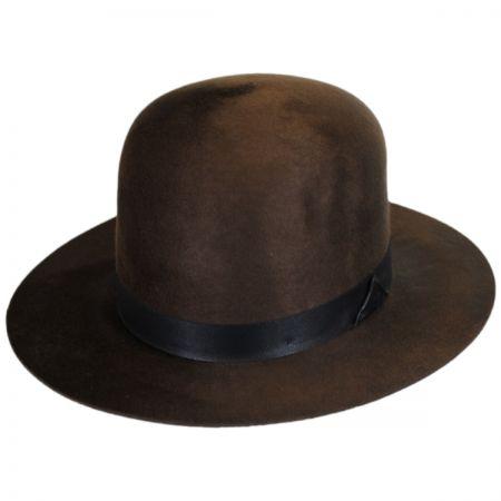 Bailey Hughey Wool Felt Open Crown Fedora Hat