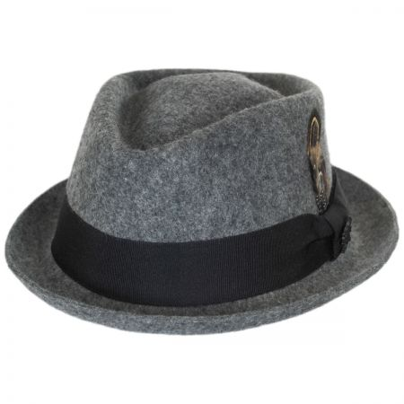 Stacy Adams Diamond Crown Wool Felt Fedora Hat