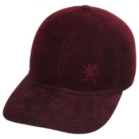 Stacy Adams Wool Felt Adjustable Baseball Cap