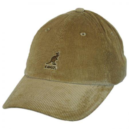 Kangol Logo Corduroy Strapback Baseball Cap Dad Hat