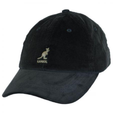 Kangol Logo Corduroy Strapback Baseball Cap