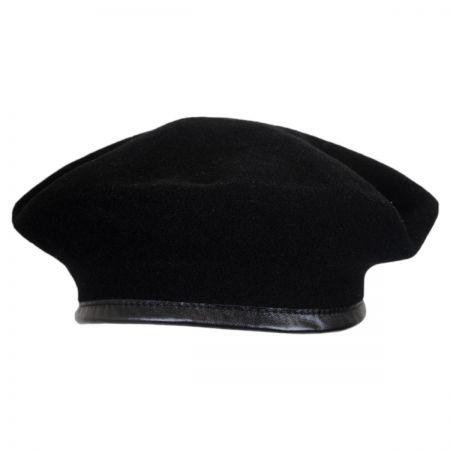 159868701a2ba Black Beret at Village Hat Shop