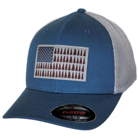 Tree Flag Mesh Flexfit Fitted Baseball Cap alternate view 1