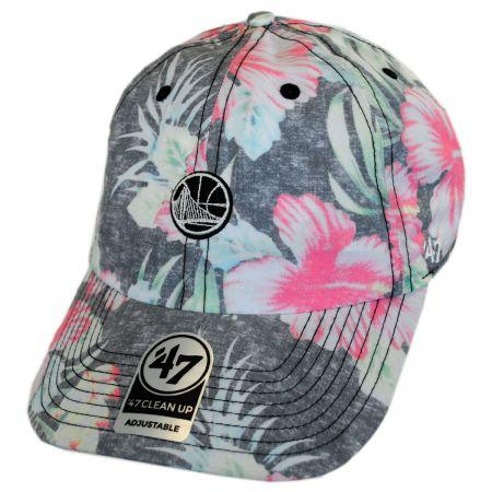 47 Brand Golden State Warriors NBA Stigma Clean Up Strapback Baseball Cap Dad Hat