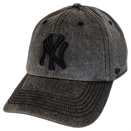 47 Brand New York Yankees MLB Caliper Clean Up Strapback Baseball Cap Dad Hat